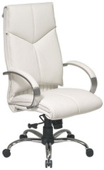 High Back Executive White Leather Office Chair [7270] -1