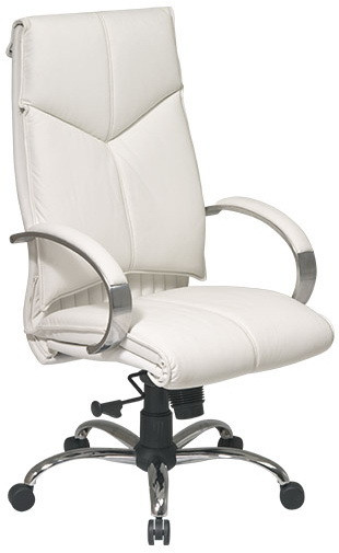High Back Executive White Leather Office Chair [7270]