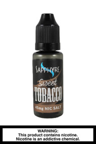Sapphyre sweet tobacco nic salt e-liquid- 45mg