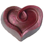 Dark Raspberry Heart