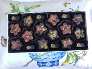 Salted Caramels with Bee Kisses, 18 piece box