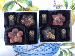 Salted Caramels with Bee Kisses, 4 piece box