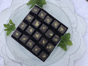 Mint Cubed, 20-piece box, milk chocolate ganache
