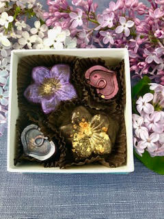 Flowers and Hearts , 4-piece box