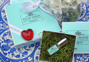 Valentine's Day Special: The 18 piece box of chocolates and FLOURISH Pure Parfume Oil.