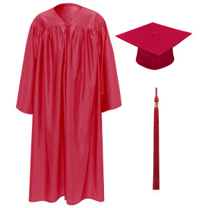 Red Little Scholar™ Cap, Gown & Tassel + FREE DIPLOMA