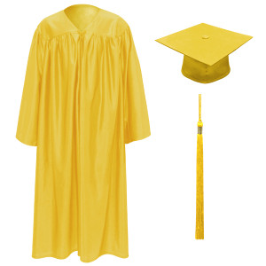 Bright Gold Little Scholar™ Cap, Gown & Tassel + FREE DIPLOMA