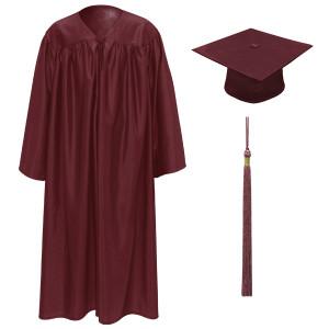 Maroon Little Scholar™ Cap, Gown & Tassel + FREE DIPLOMA