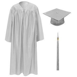Light Grey Little Scholar™ Cap, Gown & Tassel + FREE DIPLOMA