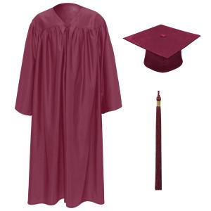 Deep Maroon Little Scholar™ Cap, Gown & Tassel + FREE DIPLOMA