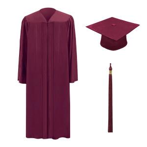 Deep Maroon M2000™ Cap, Gown & Tassel