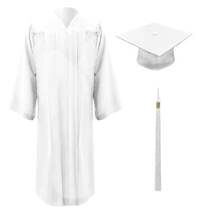 White Freedom™ Cap, Gown & Tassel