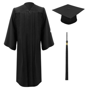 Black ULTRA GREEN Cap, Gown & Tassel