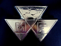 MF Front Bonnet Chrome Badge - W062