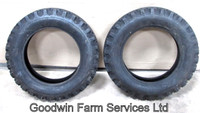 As New Pair 550 x 15 Front Tractor Firestone Tyres ONE SET ONLY - UP209