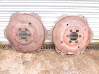 Pair 28 inch (may also fit 30 inch) wheel centres with Ford/Fordson 6 stud pattern. £60 plus VAT