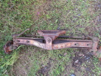 Nuffield DM4 etc Front Axle c/w hubs. USED. Some play in centre pin but otherwise good. RH steering arm NOT welded on. UP369