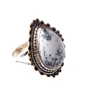 Dendritic Agate Ring Size 7.75 #0311