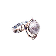 Dendritic Opal Ring Size 6.5 #0359