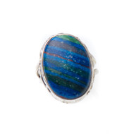 Rainbow Calsilica Ring Size 9 #0364