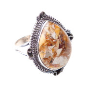 Brecciated Mookaite Ring Size 8.75 #0369