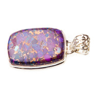Purple Copper Turquoise Pendant #0387