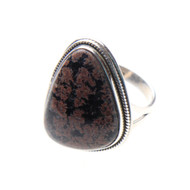 Firework Obsidian Ring Size 8.75 #0447