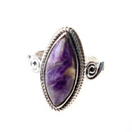 Russian Charoite Ring Size 5 #0483