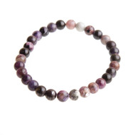 Charoite Stretch Bracelet with 6mm Beads #0502