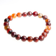 Agate Stretch Bracelet with 8mm Beads #0507