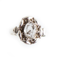 Herkimer Diamond Ring Size 9 #0609