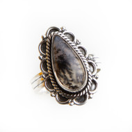 Dendritic Opal Ring Size 7.25 #0641