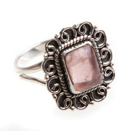 Rose Quartz Ring Size 9 #0689