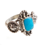 Native American Ring Size 9.25 #0696