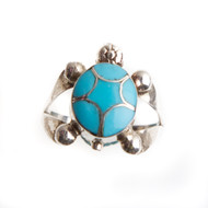 Native American Turtle Ring Size 5 #0773