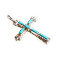 Native American Cross Pendant #0785