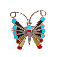 Native American Butterfly Ring Size 9.75 #0797