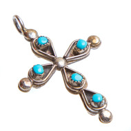 Native American Reversible Cross Pendant #0836