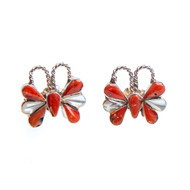 Native American Butterfly Earrings #0865