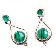 Malachite and Green Onyx Earrings #0958