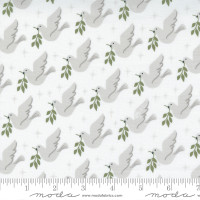 Moda Fabric - Christmas Morning - Lella Boutique - Lovey Dovey Bird Dove Peace Snow #5141 11