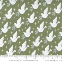 Moda Fabric - Christmas Morning - Lella Boutique - Lovey Dovey Bird Dove Peace Pine #5141 15