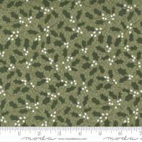 Moda Fabric - Christmas Morning - Lella Boutique - Holly Jolly Sprig Blender Holly Greenery Pine #5142 15