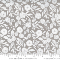 Moda Fabric - Christmas Morning - Lella Boutique - Winter Flora Blender Floral White and Gray Dove #5143 13