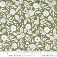 Moda Fabric - Christmas Morning - Lella Boutique - Winter Flora Blender Floral Pine #5143 15