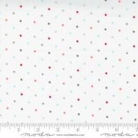 Moda Fabric - Christmas Morning - Lella Boutique - Magic Dot Multicolored Snow #5147 11