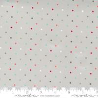 Moda Fabric - Christmas Morning - Lella Boutique - Magic Dot Multicolored Silver #5147 12