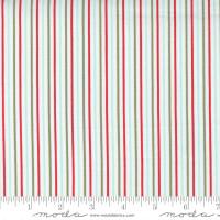 Moda Fabric - Christmas Morning - Lella Boutique - Yuletide Stripe Snow #5148 11