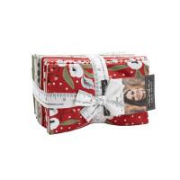 Moda Fabric Precuts - Fat Eighth Bundle - Christmas Morning by Lella Boutique