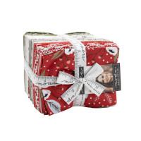 Moda Fabric Precuts - Fat Quarter Bundle - Christmas Morning by Lella Boutique